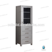 Modern Freestanding Tall Side Cabinet, wood bathroom linen cabinet